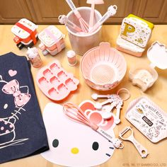 Hello Kitty kitchen items bring happiness and joy into your kitchen. Be inspired to create culinary cuteness!
