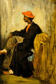 Eugene Delacroix - Study of a Calcutta Indian, 1820 at the Virginia Museum of Fine Arts (VMFA) Richmond VA