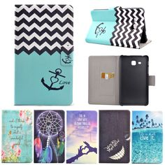 Fashion Cartoon Case Flower Flip PU Leather Cover Funda For Samsung Galaxy Tab A 7.0 T280 T285 7'' Tablet Stand Cover Cases