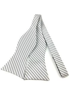 Silver with Grey and White Twill Self Tied Bowtie Ties Online, Grey And White, Gray, Grey Tie, Formal Suits, Formal Looks, Bowties, Wedding Men, Tuxedo