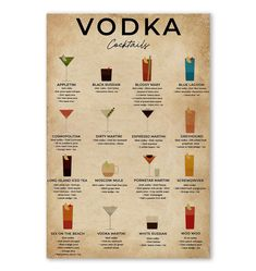 Edge-to-edge print with no borders. Printed on 300 GSM paper. Vodka Cocktails, Cocktail Drinks, Black Russian, Espresso Martini, Gsm Paper, Bloody Mary, Wine Drinks, Iced Tea, Sweet Recipes
