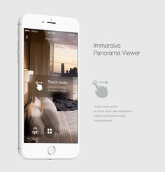 Pano 360º - UX/UI iOs app design: Touch Mode