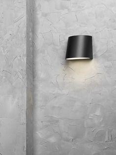 Mini väggarmatur svart LED