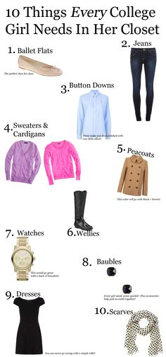 Cardigans and Chai: 10 Things Every College Girl Needs in Her Closet