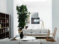 Große Pflanzen lockern einen Raum auf und produzieren vor allem viel frische Luft. Außerdem sieht ein Raum mit Pflanzen gleich viel wohnlicher aus.  Also schnell den grünen Daumen rausholen und los gehts.