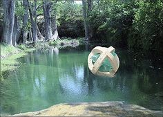 Hill Country Pond with Sphere Damian Priour