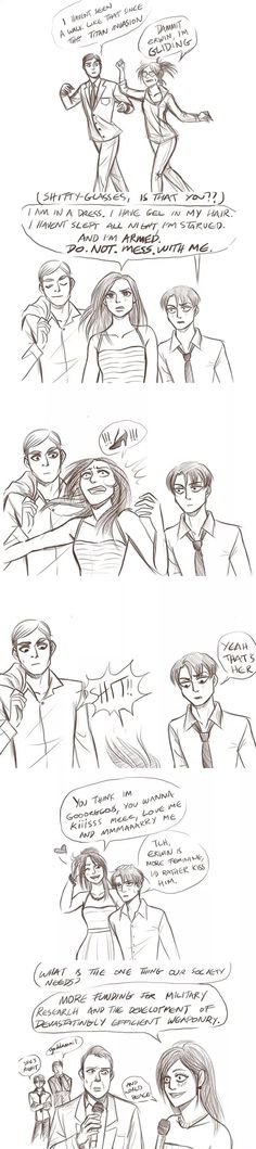 Erwin x Hanji x Levi/ how can sb don't love this hahahaha!!!!!