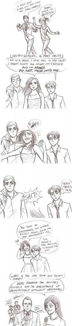 Erwin x Hanji x Levi/ how can sb don't love this hahahaha!!!!!