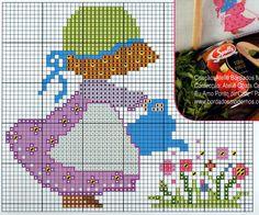 8 of 8 Sunbonnet Sue Just Cross Stitch, Cross Stitch Baby, Cross Stitch Flowers, Cross Stitching, Cross Stitch Embroidery, Embroidery Patterns, Cross Stitch Patterns, Sunbonnet Sue, Stitch Doll