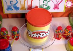 """Play Doh Cake for """"Play Doh Party"""""""