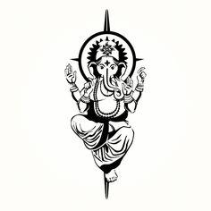 Simple Ganesh tattoo