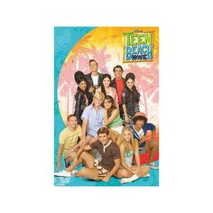 Teen Beach Movie Cast Poster Poster ($7.99) ❤ liked on Polyvore featuring home, home decor, wall art, beach home accessories, beach poster, beach wall art, beach scene posters and beach home decor