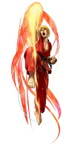 Ken Masters Street Fighter from Project X Zone 2 Ken Street Fighter, Capcom Street Fighter, Street Fighter Characters, Super Street Fighter, Snk King Of Fighters, Ken Masters, Arte Ninja, Character Art, Character Design