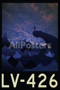 LV-426 Retro Travel Plastic Sign Movies Plastic Sign - 30 x 46 cm