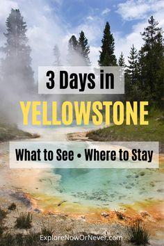 Looking for epic hikes and experiences in this US national treasure of a national park? This outlines an itinerary ( map) and where to stay. Visit Yellowstone, Yellowstone Vacation, Yellowstone National Park, Badlands National Park, Cool Places To Visit, Places To Travel, Travel Destinations, Travel Diys, Holiday Destinations