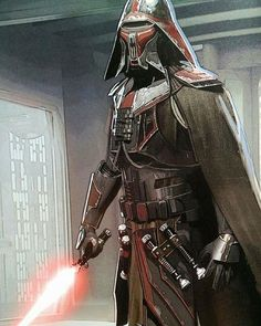 """""""Early sketch of """"Jedi Killer"""" aka Kylo Ren by Christian Alzmann. ------ I liked how they were trying to incorporate more Vader into his initial designs.…"""""""