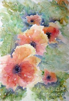 Poppies - Watercolor - Marisa Gabetta