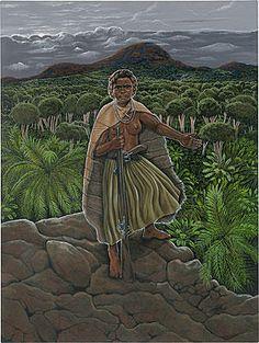 Tarenorerer Aboriginal leader, known as WALYER- Tasmanian war heroine(c. Aboriginal History, Aboriginal Artists, Women In History, Black History, African Royalty, Modern Ghana, Empire, African Diaspora, British Colonial