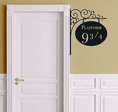 Harry Potter Platform 9 3/4 Door Decal