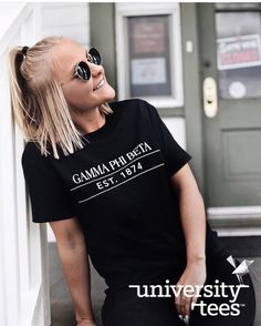 back in black | Gamma Phi Beta | Made by University Tees | universitytees.com