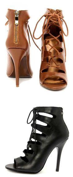 Bootie ve topuklu ayakkabı karışımı olan, bağcıklı ya da fermuarlı modeller sayesinde modern bir görünüm elde etmeye ne dersiniz