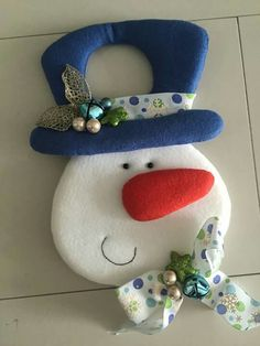 Nieve Christmas Clay, Merry Christmas, Christmas Sewing, Christmas Snowman, Christmas Projects, Handmade Christmas, Christmas Time, Holiday, Felt Christmas Decorations