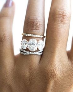 "Favorite challenge: designing a wedding band to compliment a unique engagement ring. Often, we're so focused on a ""matching"" band or something that fits flush, but not all rings will allow a traditional set. Projects like this create space for creativity and endless possibilities. Need help? Hit us up for your stackable rings, wedding bands, or engagement rings."