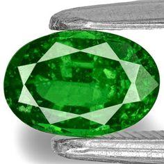 0.74-Carat Chrome Green Oval-Cut Kenyan Tsavorite Garnet