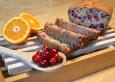 This bread is delicious - perfectly moist!  Cranberries and orange make this bread full of tangy tart sweetness.
