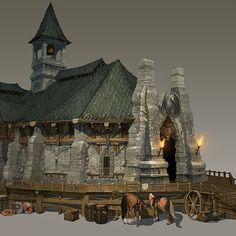Town Hall, Dirty J on ArtStation at https://www.artstation.com/artwork/town-hall-6e9489bc-cc55-4439-bec7-3800f4bcda73
