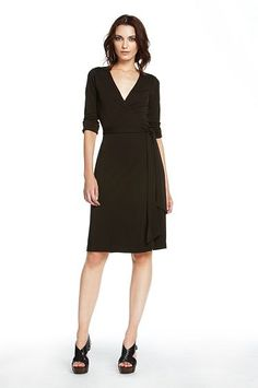 The perfect wrap dress from DVF. In chocolate or black - can't choose!