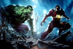 McDonalds Iron Man Vs. Monster Energy Drink Hulk