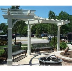 Curved Prefabricated Cantilever Park Arbor Shelter