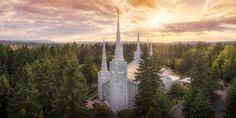 Portland, Oregon - LDS Temple (Aerial) by Alan Fullmer