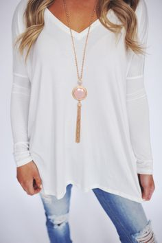 Dottie Couture Boutique - Reversible Necklace- Peach/Grey, $18.00 (http://www.dottiecouture.com/reversible-necklace-peach-grey/)