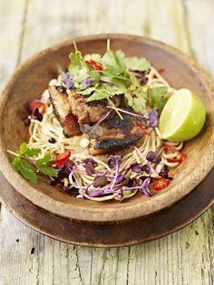 Rhubarb, Pork & Noodles | Pork Recipes | Jamie Oliver Recipes