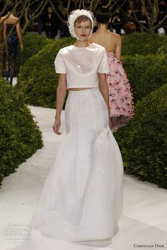 christian dior spring summer 2013 couture white dress sleeves