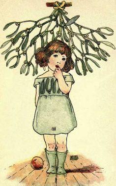 mistletoe  Illustrated by Nellie Benson, 1901