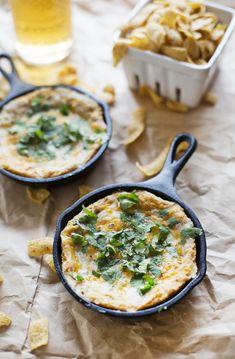 Cheesy Hot Bean Dip (via abeautifulmess.com)