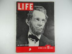 Vintage 1938 Life Magazine October 31 , Abe Lincoln on Broadway - Raymond Massey American Actors, American Art, Raymond Massey, Facebook Family, October 31, Take Better Photos, Good Grades, Second World, Coming Of Age