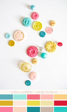 colour palette : candy buttons, curated by Emma Lamb / photograph © emma lamb