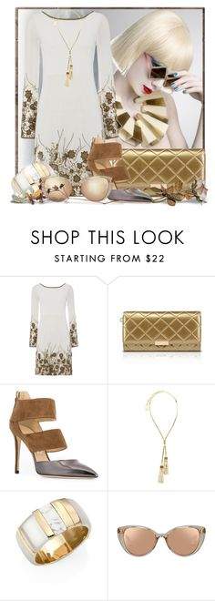 """""""Incredible lightness of being"""" by doozer ❤ liked on Polyvore featuring Raishma, Jimmy Choo, Lanvin, Alexis Bittar and Linda Farrow"""