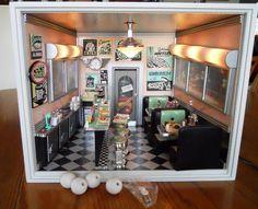 dollhouse miniature diner furniture - Google Search
