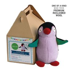 Handmade Penguin Plush Stuffed Animal Making Kit Colors Will Vary