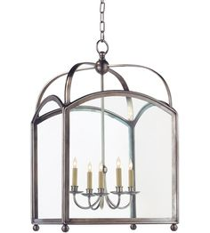 "Visual Comfort CHC3425AN E.F. Chapman Arch Top 5 Light 20 inch Antique Nickel Foyer Pendant Ceiling Light #visualcomfort #lightingnewyork #lighting - 20.25""W x 34.25""H ****FOYER Possibility****Price Quoted"