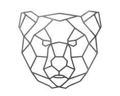 Items similar to Steel Geometric Bear Wall Art - Metal Wall Art ...