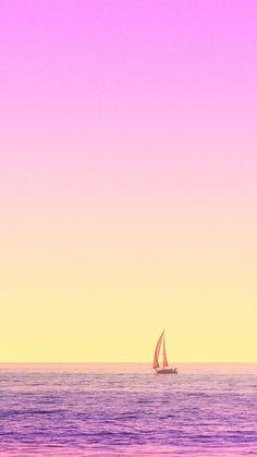 [おしゃれカラーシリーズ]海とヨットiPhone壁紙 iPhone 5/5S 6/6S PLUS SE Wallpaper Background