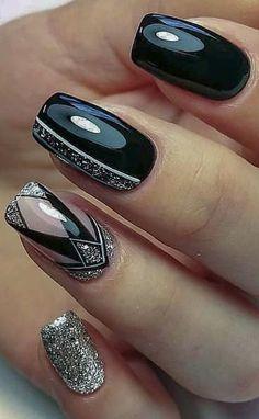 nail polish ideas for spring . nail polish ideas for summer . nail polish ideas for winter . Almond Acrylic Nails, Acrylic Nail Art, Black Nail Designs, Acrylic Nail Designs, Gel Polish Designs, Fall Nail Art Designs, Solar Nails, Vacation Nails, Nail Polish