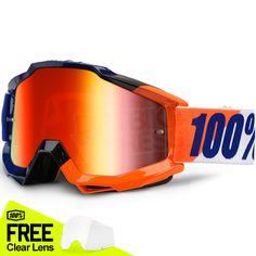 660d9b2404249 100% Accuri Goggles - Wilsonian Mirror Lens. Motocross GogglesAtv PartsDirt  ...