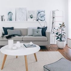 The beautiful living room of @oh.eight.oh.nine  with our light grey button cushion | Aussies whose watching the Jon Benet Ramsey investigation tonight? I've been transfixed with this case since I was a kid looks like so big revelations will be made finally